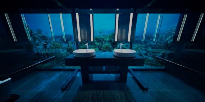 La première villa sous-marine du monde vient d'ouvrir aux Maldives et elle coûte 50 000 dollars la nuit ! Hocc8210