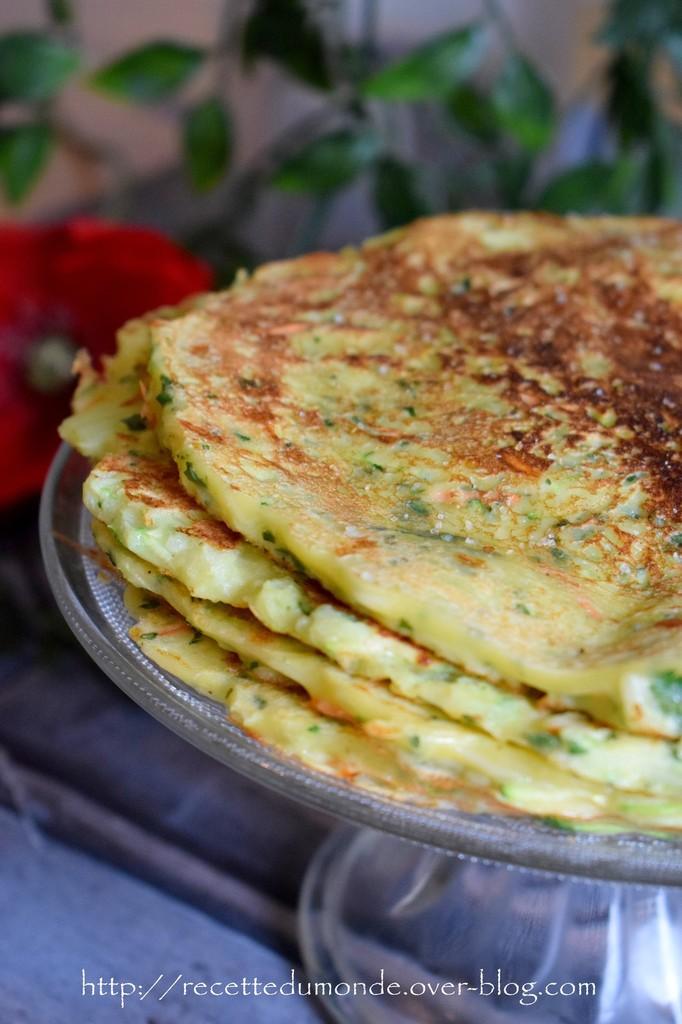 Pancakes aux légumes. Ob_0f410
