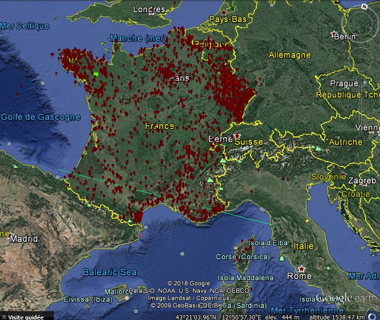 Carte des PANs en forme de Triangle (Delta Initiative) M769710