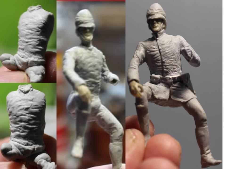 19 th hussard . à Abu Kru 1885 : 1 cavalier à pied+1 cavalier à cheval ( création) 19_th10