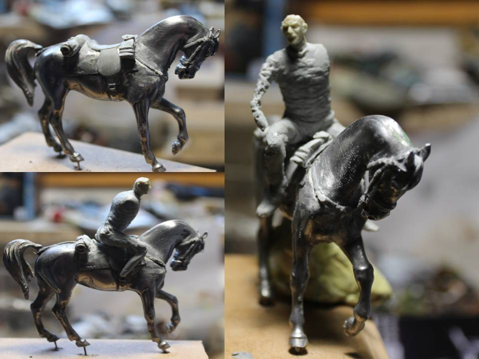19 th hussard . à Abu Kru 1885 : 1 cavalier à pied+1 cavalier à cheval ( création) 19th_p10