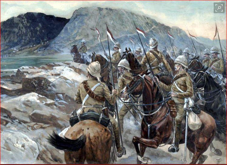 19 th hussard . à Abu Kru 1885 : 1 cavalier à pied+1 cavalier à cheval ( création) Avec_s10