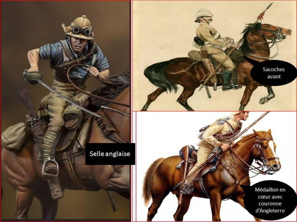 19 th hussard . à Abu Kru 1885 : 1 cavalier à pied+1 cavalier à cheval ( création) Harnac10