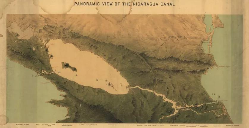 ( JAMAIS visible sur google earth ) canal interocéanique Nicaragua 838_ni10