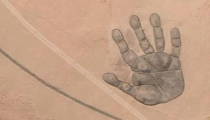 Dessin de main bien mystérieux à Erenhot en Mongolie A1272