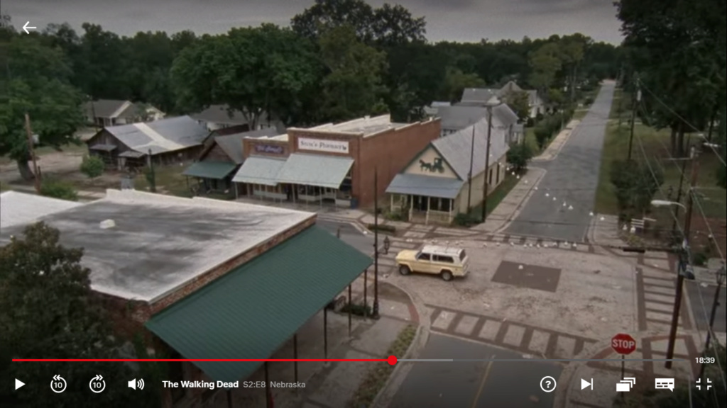 The Walking dead, storybording with Google Earth and Street View Captur46
