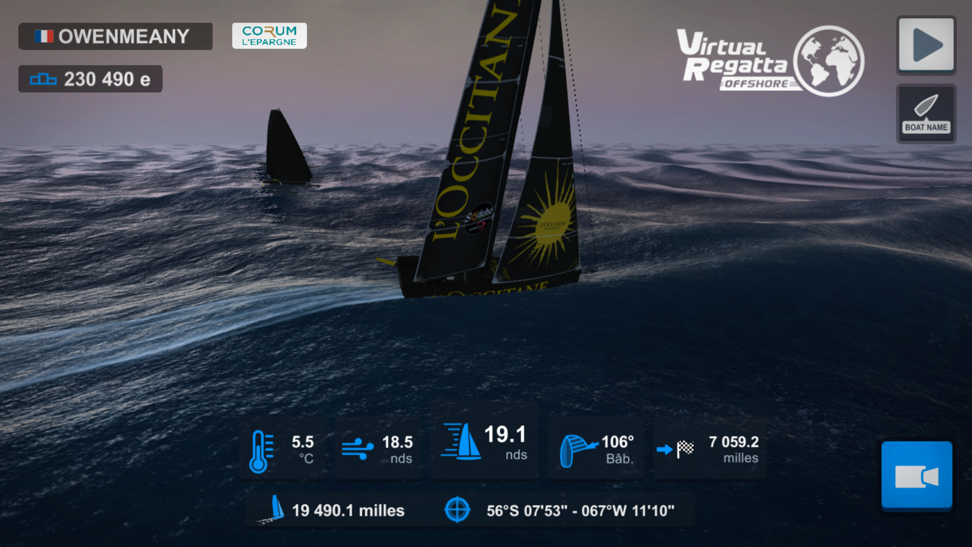 Vendée Globe virtuel: Virtual Regatta, édition 2020 - Page 2 Captur66