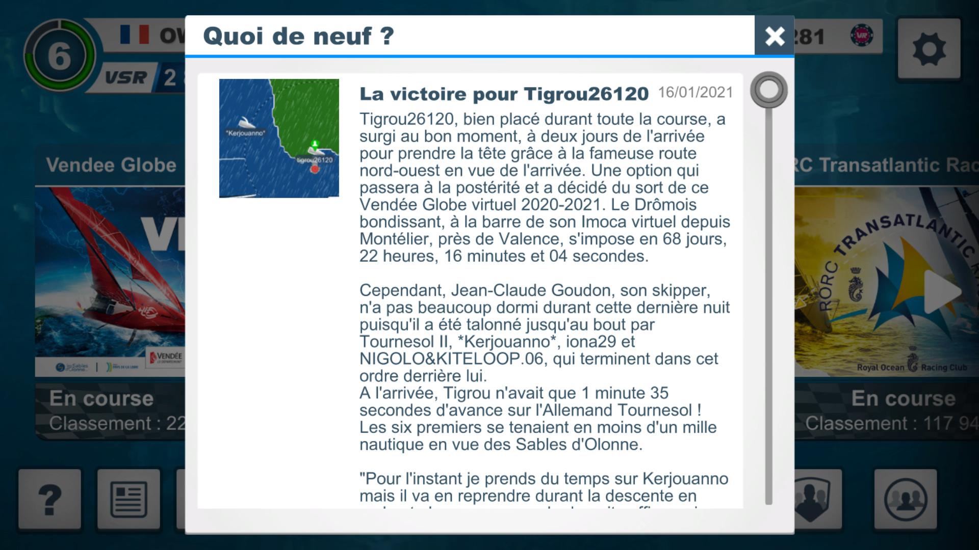 Vendée Globe virtuel: Virtual Regatta, édition 2020 - Page 2 Captur81