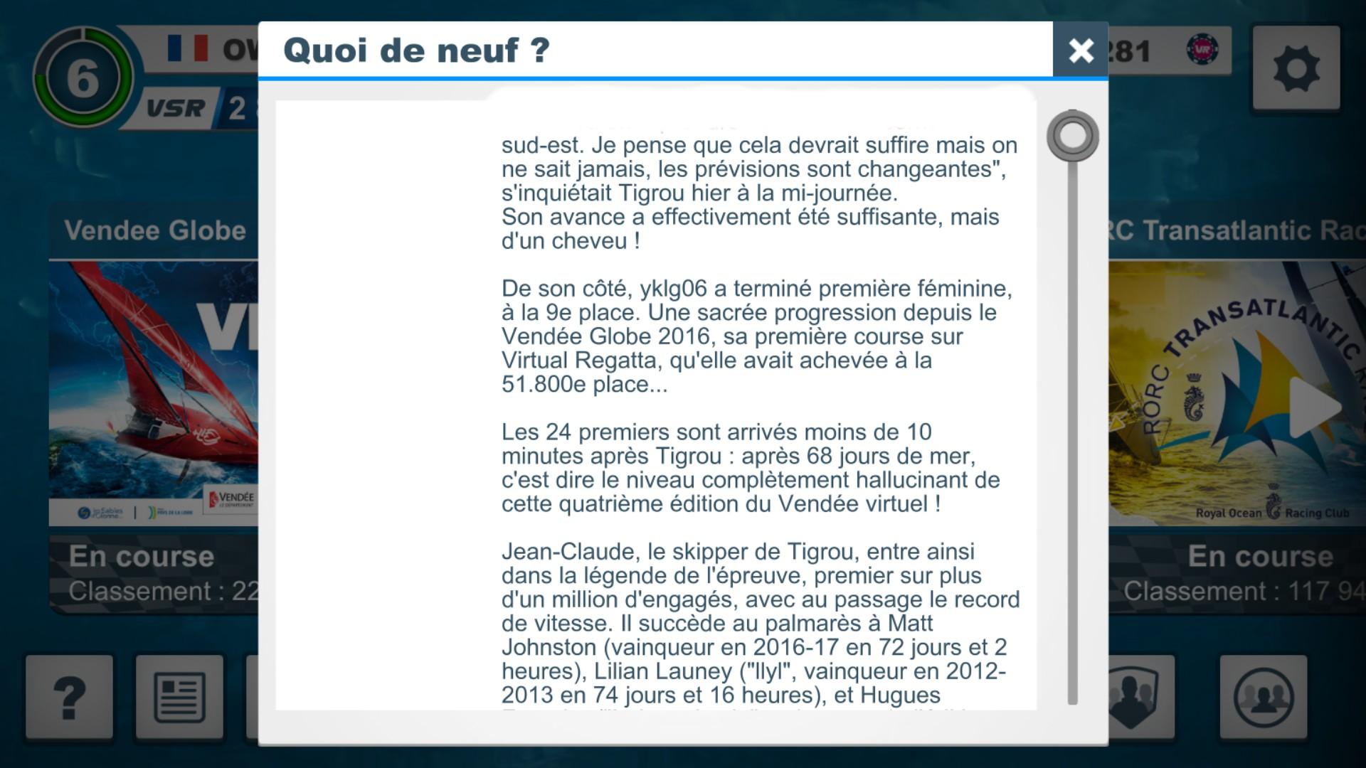Vendée Globe virtuel: Virtual Regatta, édition 2020 - Page 2 Captur84