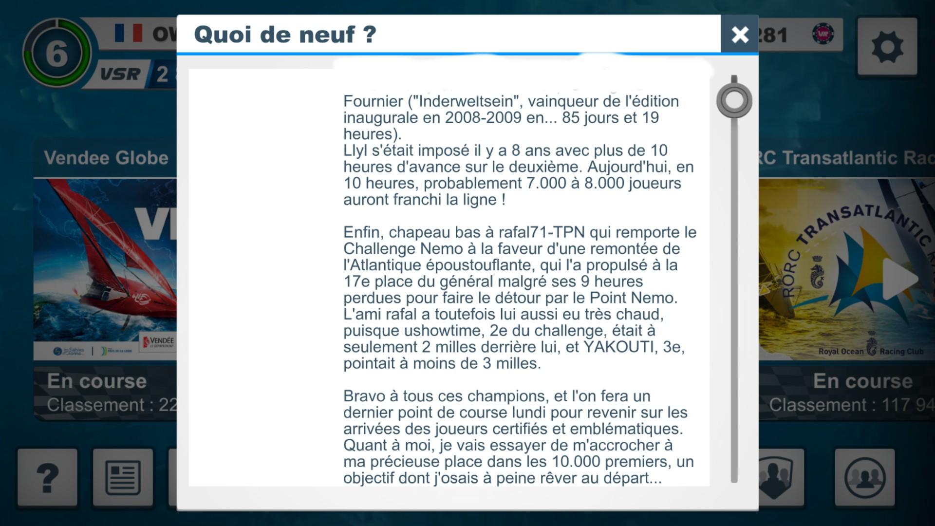 Vendée Globe virtuel: Virtual Regatta, édition 2020 - Page 2 Captur85
