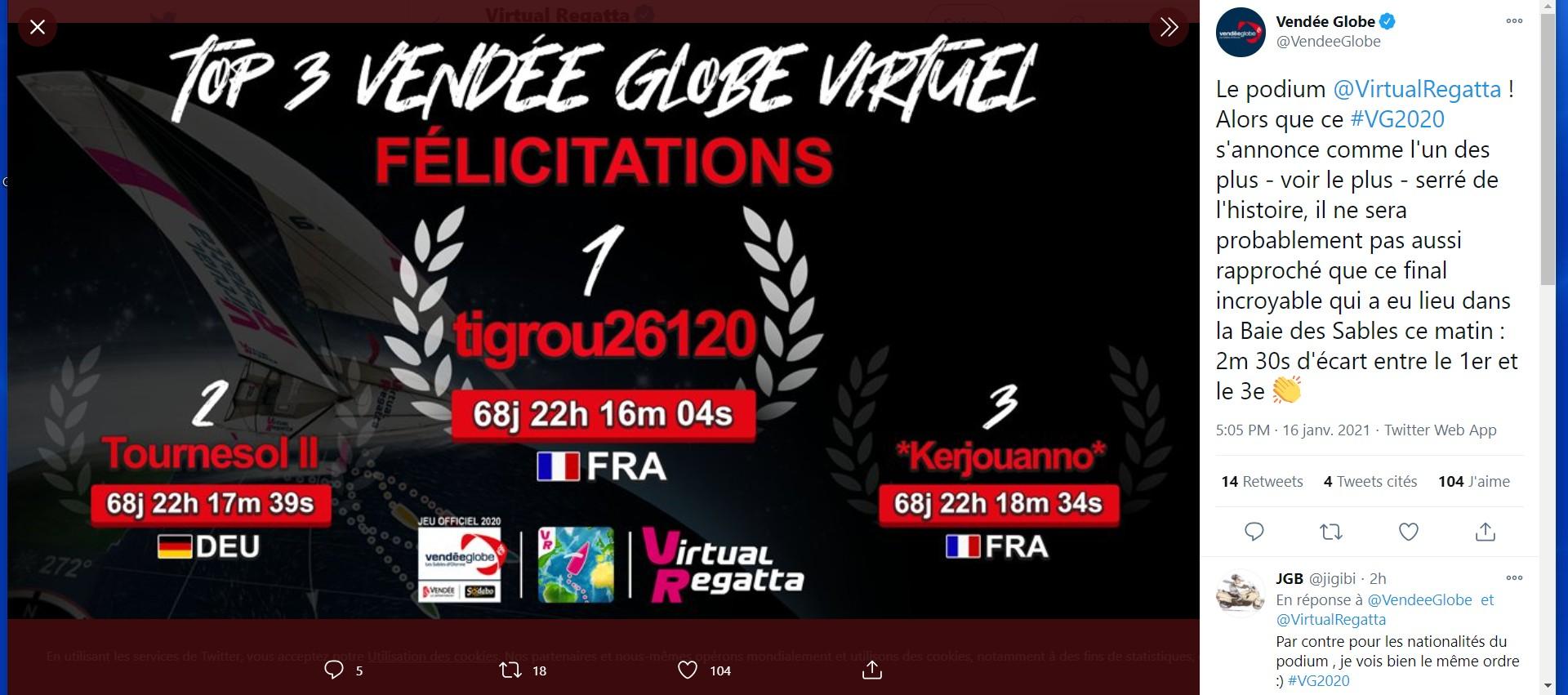 Vendée Globe virtuel: Virtual Regatta, édition 2020 - Page 2 Captur88
