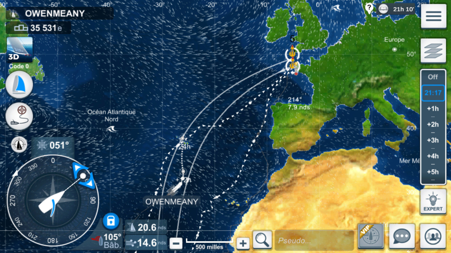 Jeu Virtual Regatta Offshore. Captur92