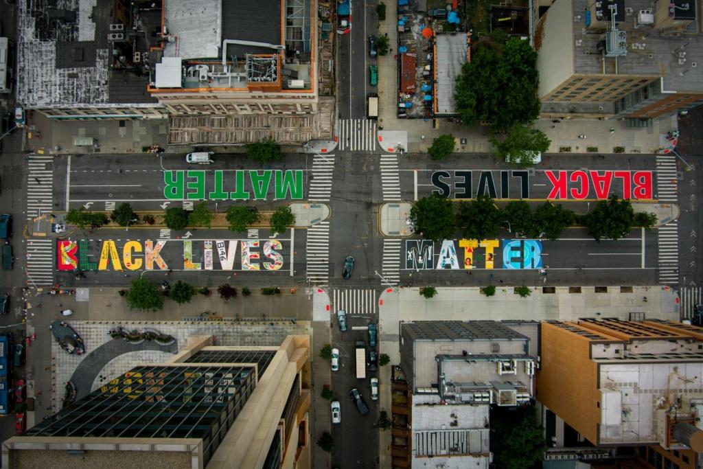 """Inscriptions """"BLACK LIVES MATTER"""" à travers le monde Merlin10"""