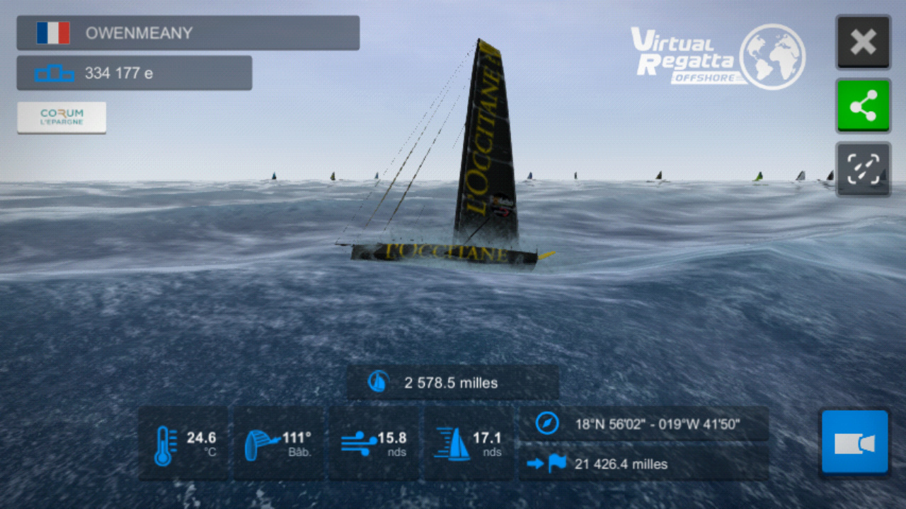 Vendée Globe virtuel: Virtual Regatta, édition 2020 Screen18