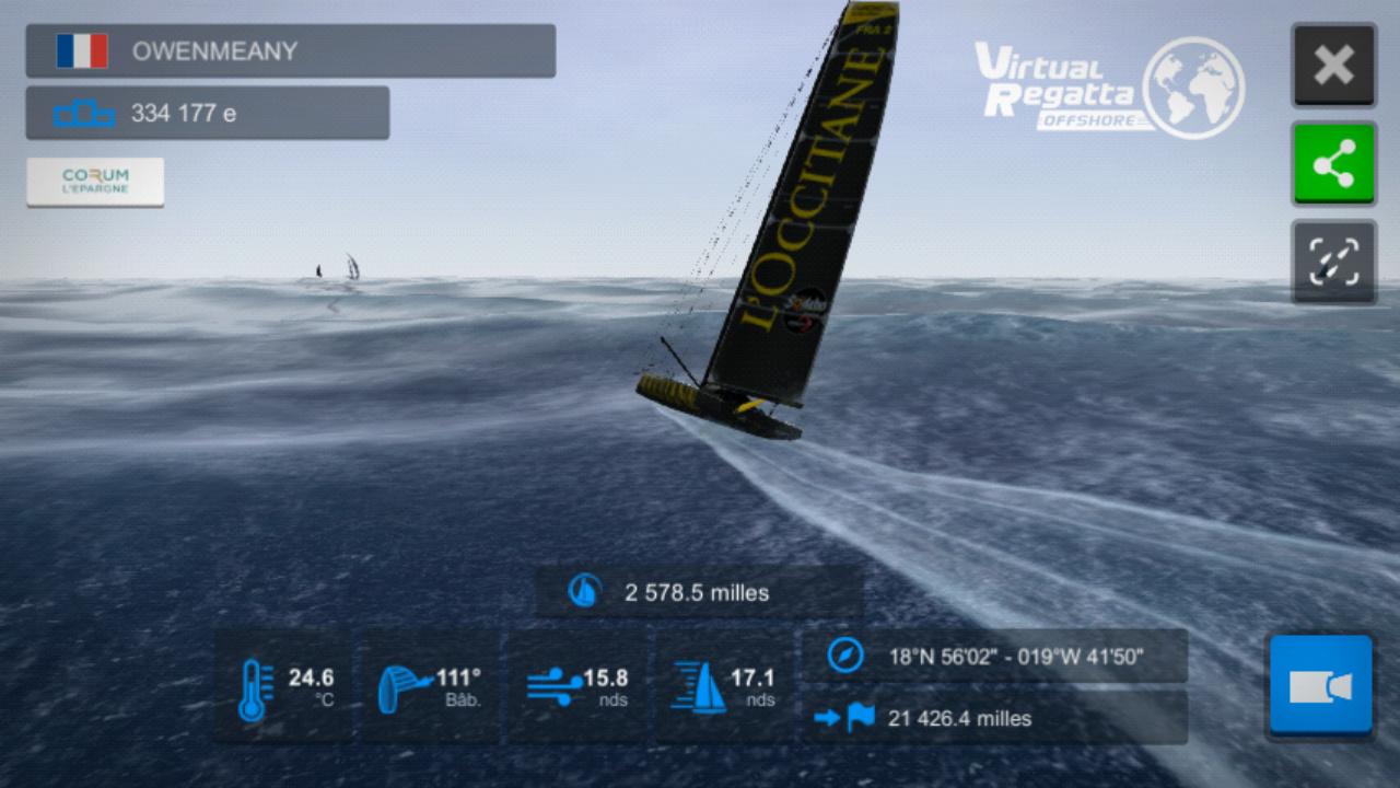 Vendée Globe virtuel: Virtual Regatta, édition 2020 Screen19