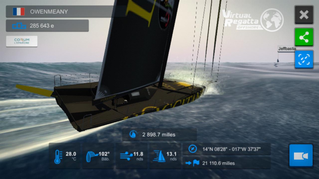 Vendée Globe virtuel: Virtual Regatta, édition 2020 Screen20