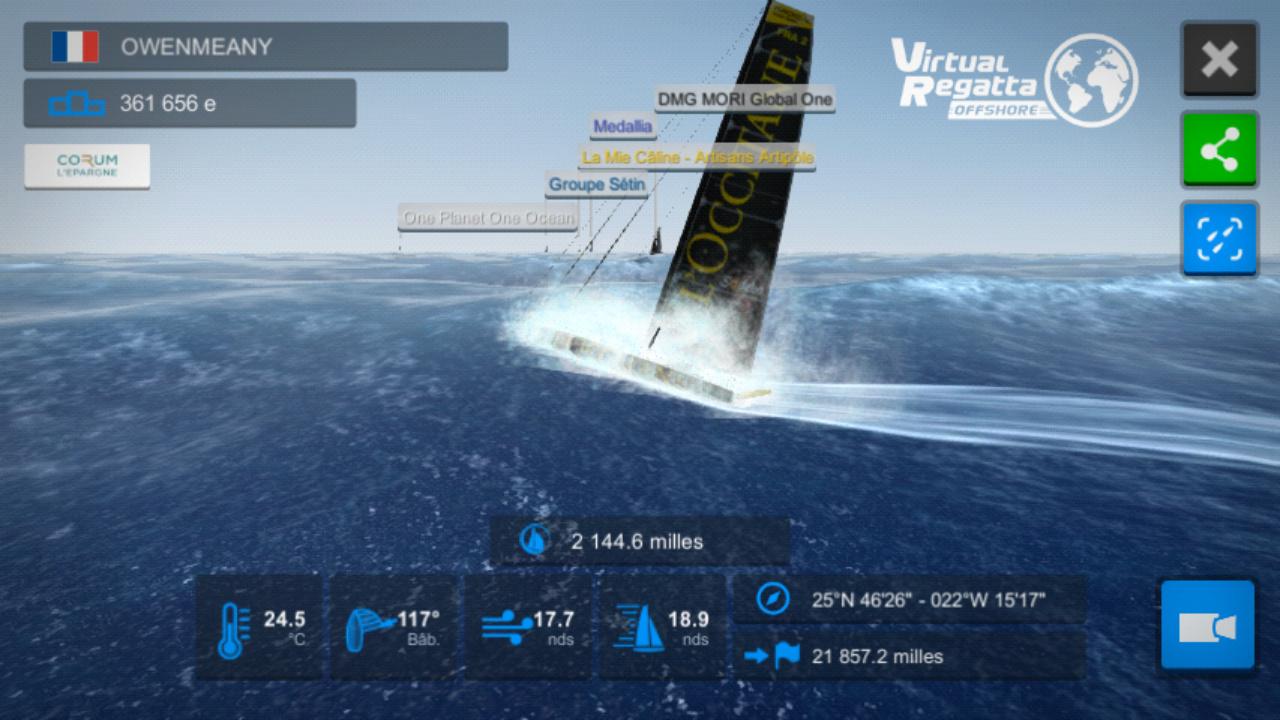 Vendée Globe virtuel: Virtual Regatta, édition 2020 Screen21