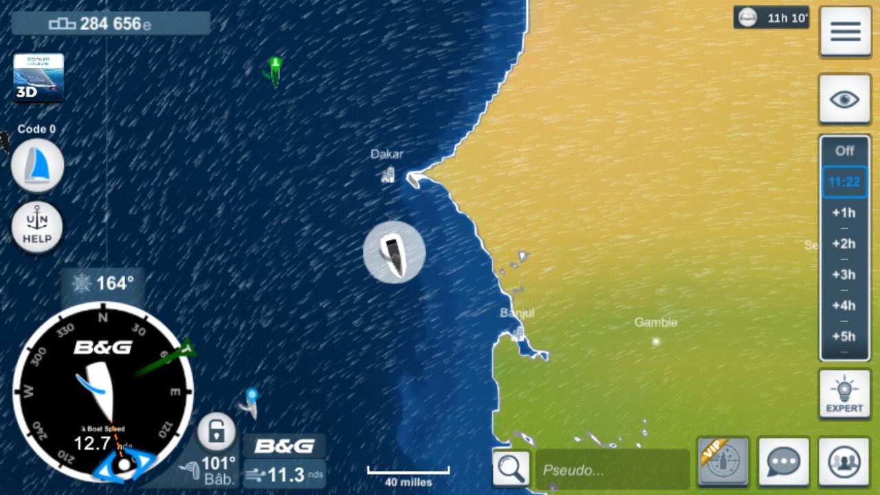 Vendée Globe virtuel: Virtual Regatta, édition 2020 Screen22