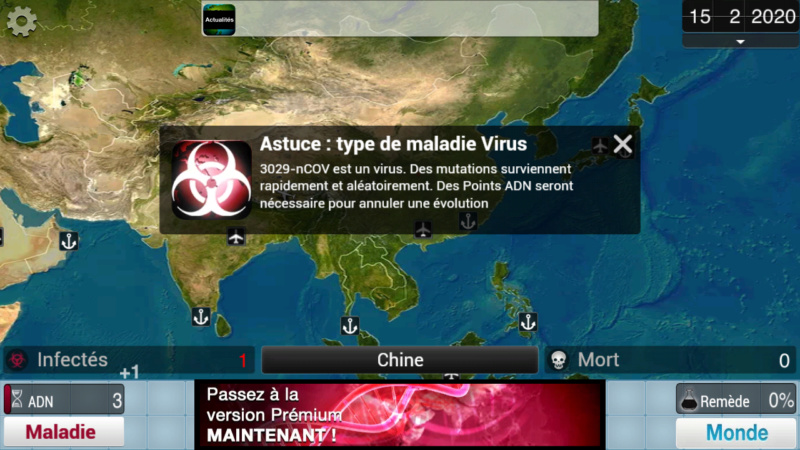 Plague Inc...une simulation de coronavirus. Screen22