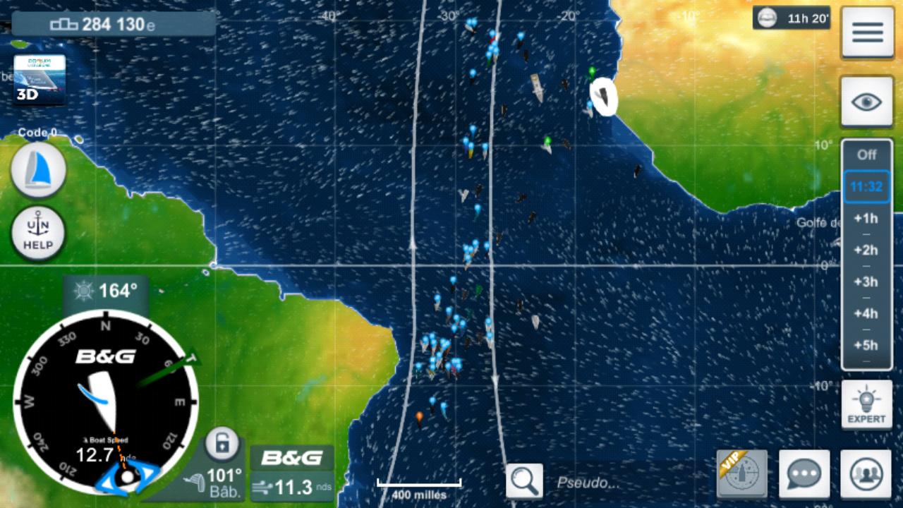 Vendée Globe virtuel: Virtual Regatta, édition 2020 Screen23