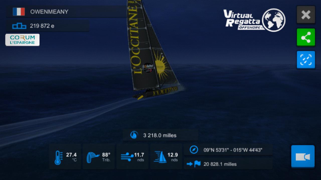 Vendée Globe virtuel: Virtual Regatta, édition 2020 Screen24