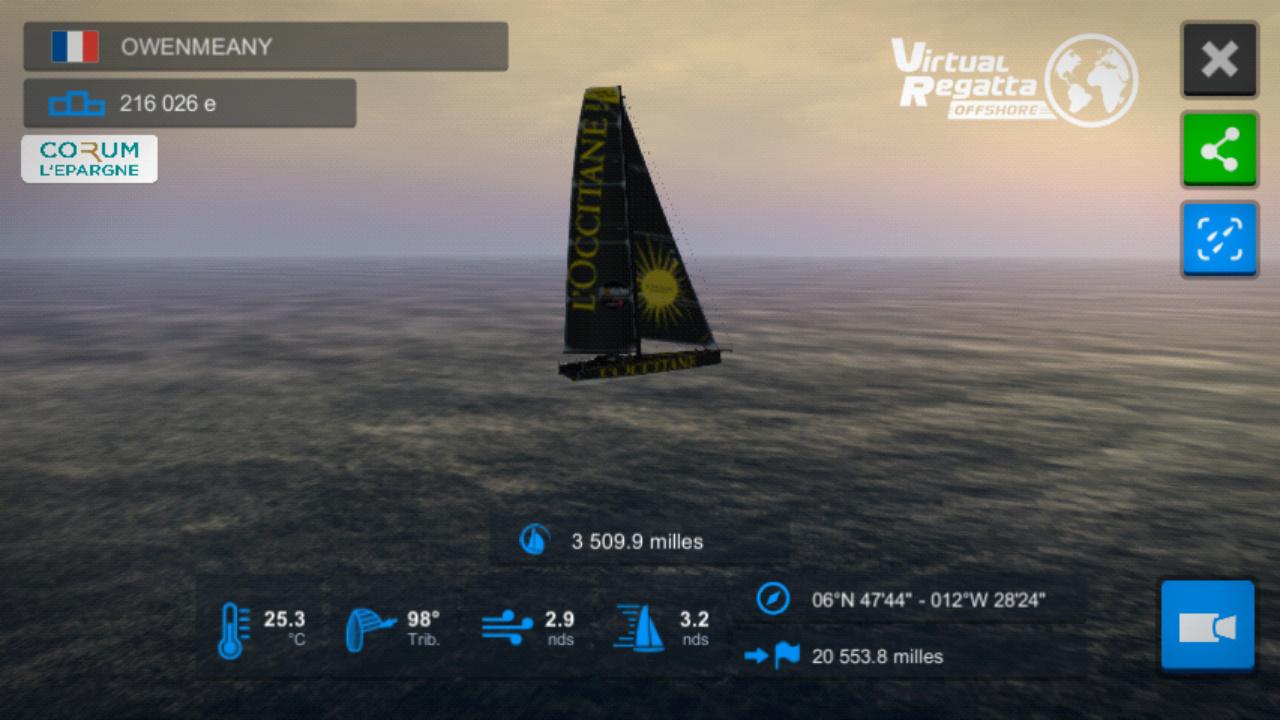 Vendée Globe virtuel: Virtual Regatta, édition 2020 Screen26