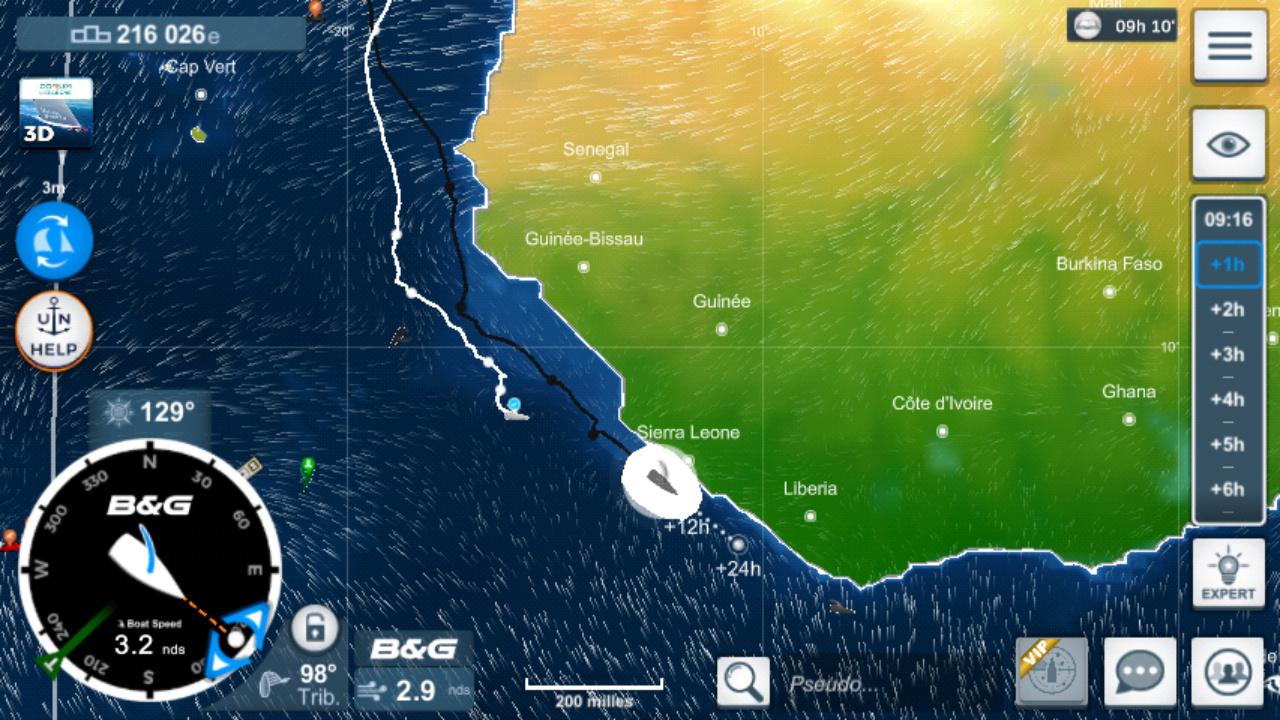 Vendée Globe virtuel: Virtual Regatta, édition 2020 Screen27