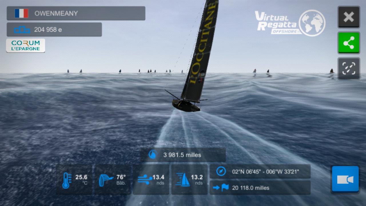 Vendée Globe virtuel: Virtual Regatta, édition 2020 Screen28