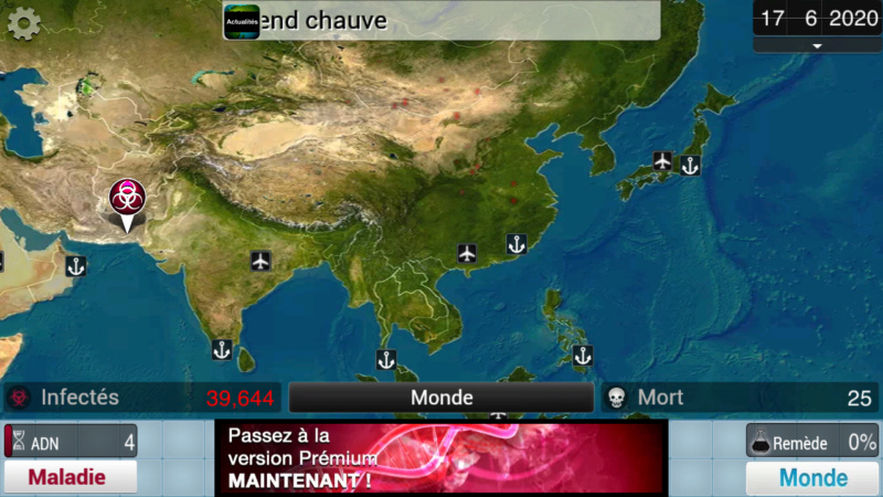 Plague Inc...une simulation de coronavirus. Screen28