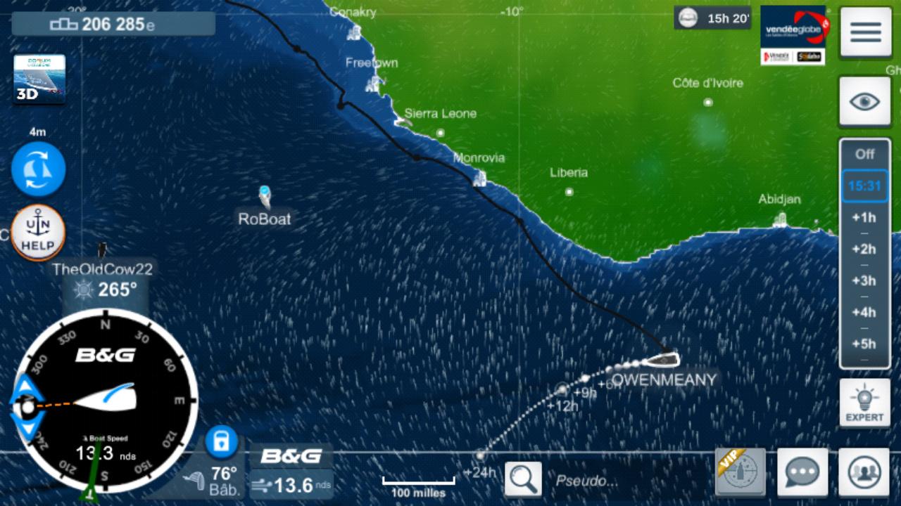 Vendée Globe virtuel: Virtual Regatta, édition 2020 Screen30