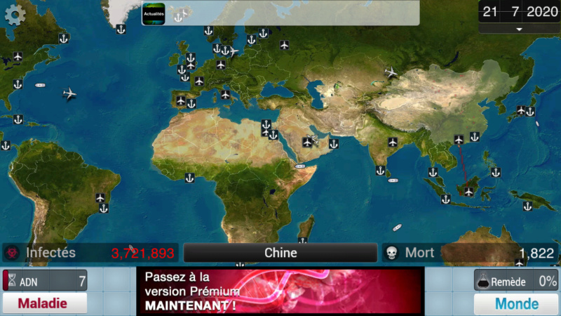 Plague Inc...une simulation de coronavirus. Screen32