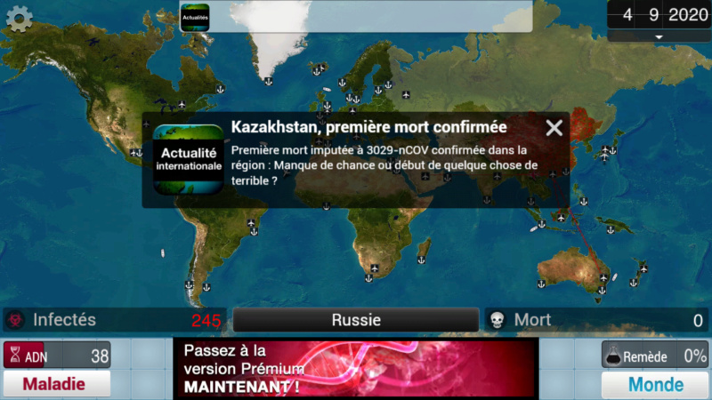 Plague Inc...une simulation de coronavirus. Screen34