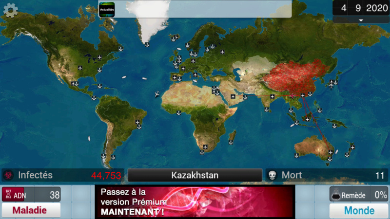 Plague Inc...une simulation de coronavirus. Screen35