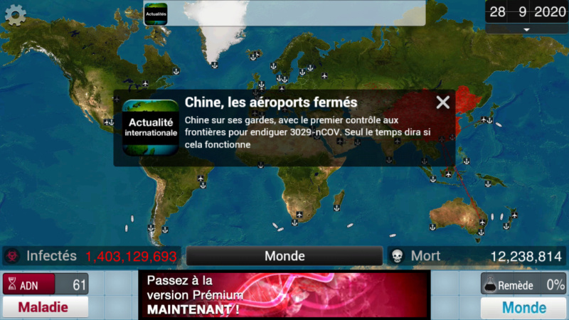 Plague Inc...une simulation de coronavirus. Screen36