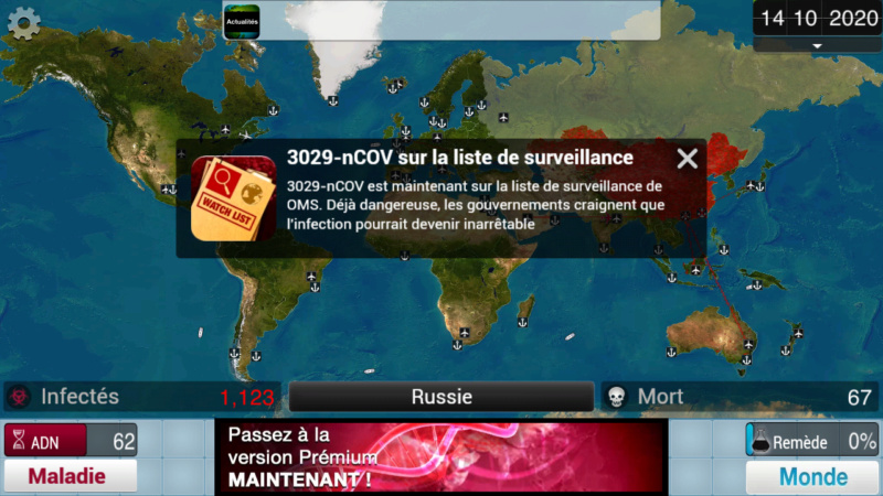 Plague Inc...une simulation de coronavirus. Screen37