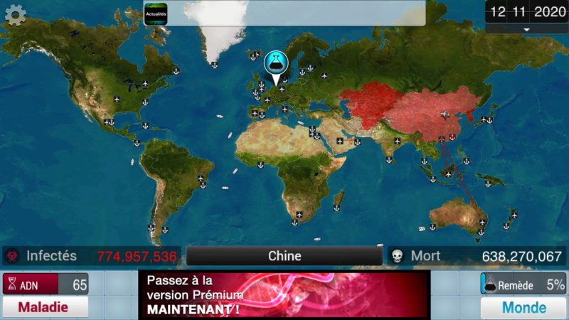 Plague Inc...une simulation de coronavirus. Screen38