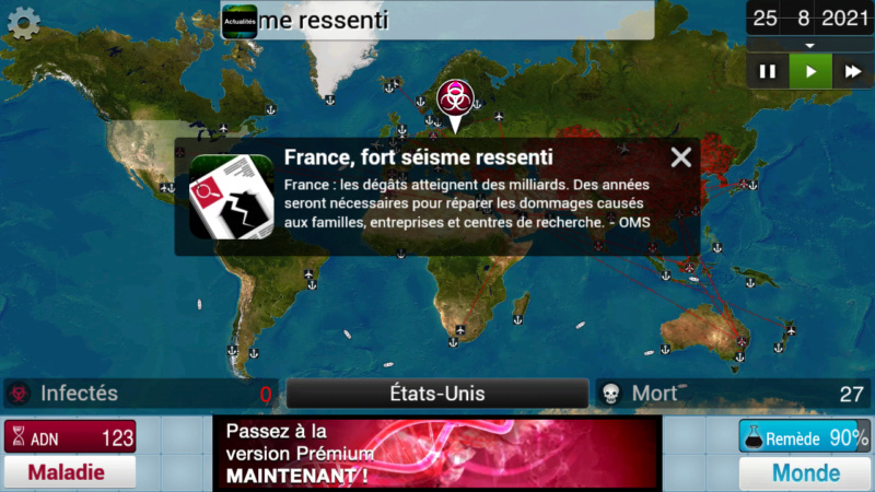 Plague Inc...une simulation de coronavirus. Screen40