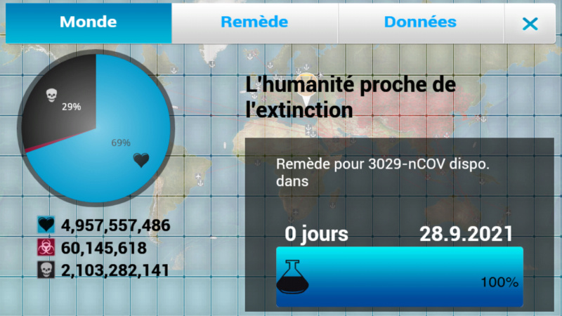 Plague Inc...une simulation de coronavirus. Screen45