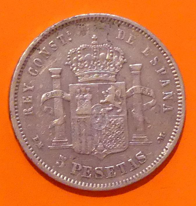 5 pesetas 1879 Alfonso XII. Opinión Alfons10