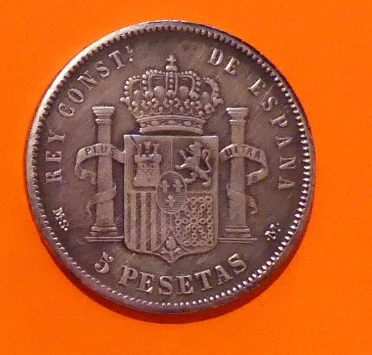 5 pesetas 1881. Alfonso XII. Opinión Alfons11