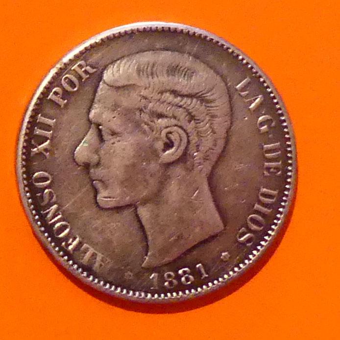 5 pesetas 1881. Alfonso XII. Opinión P1020611