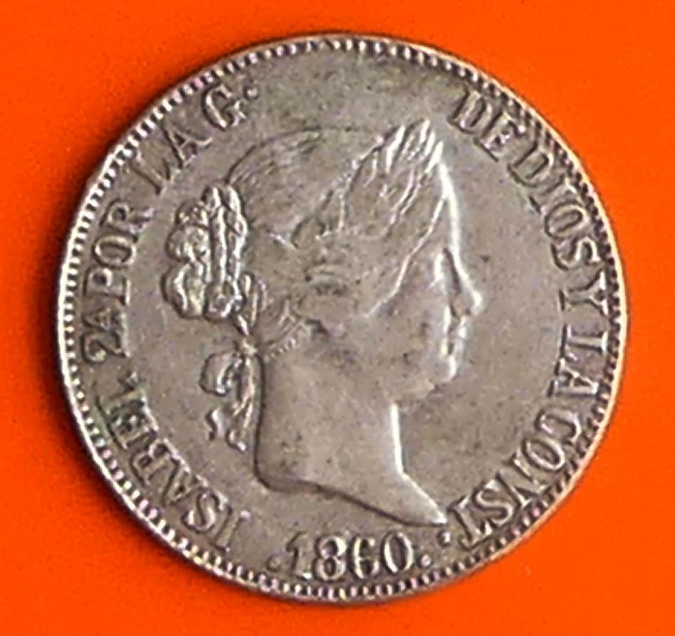 Autentificar moneda de Isabel II año 1960 10 reales P1020612