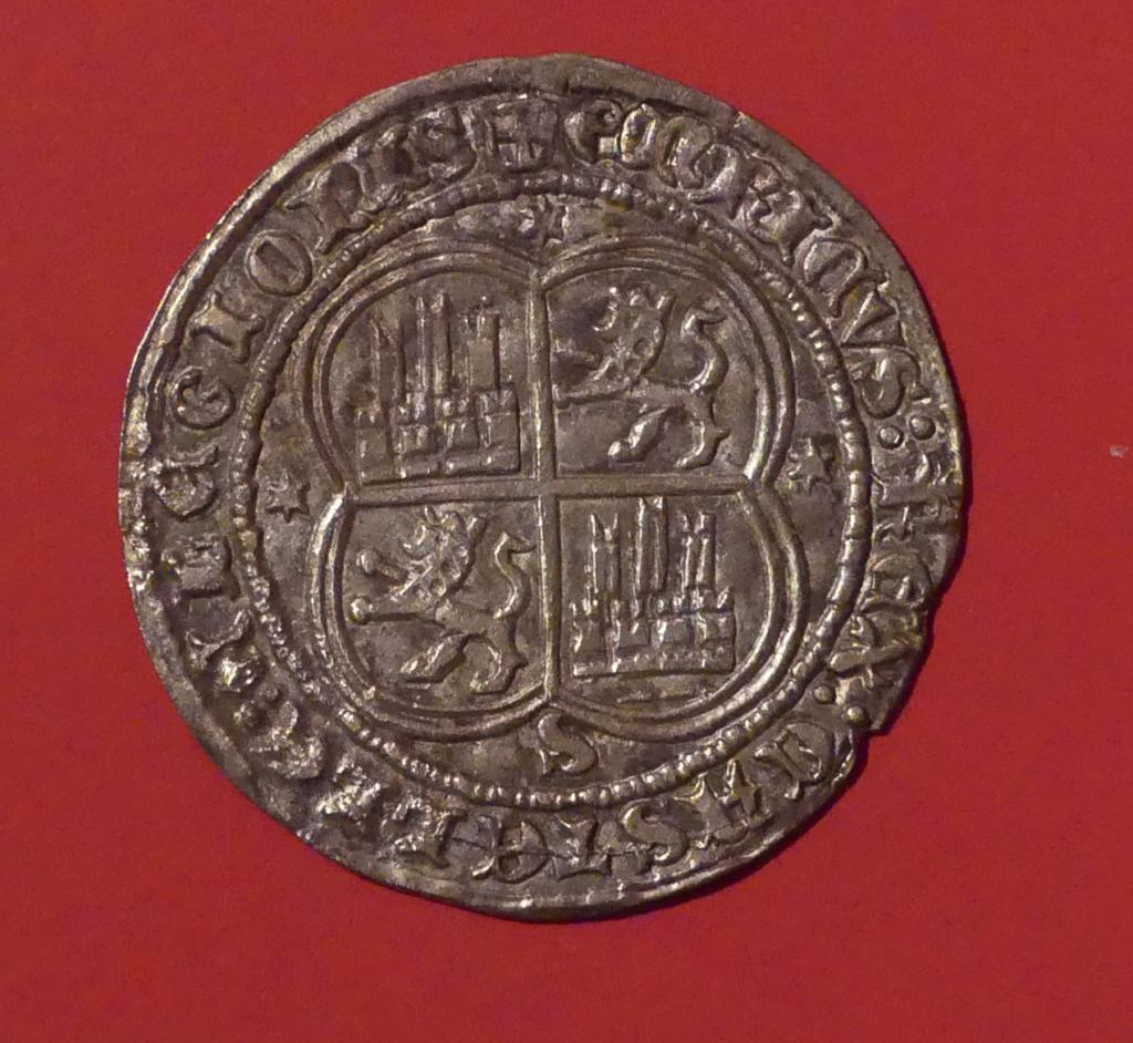ENRIQUE II - 1 REAL PLATA- SEVILLA - 1368 / 1379 Revers29