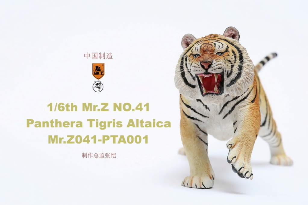 NEW PRODUCT: MR. Z: 1/6 Simulation Animal Model 41st - Siberian Tiger / Siberian Tiger [Planting Edition] - Full set of 3 colors 00044911