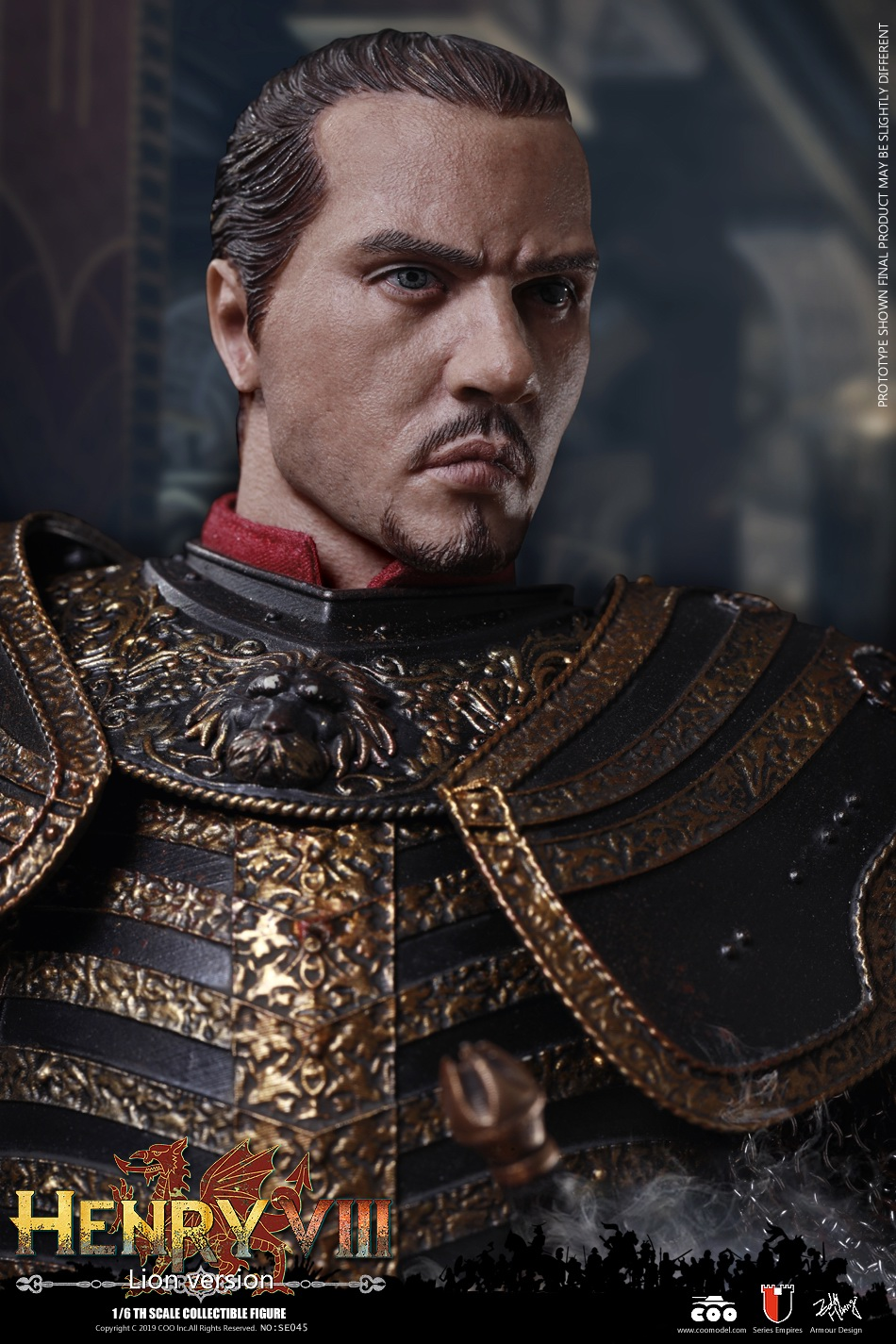 CooModel - NEW PRODUCT: COOMODEL: 1 / 6 alloy die-casting empire series - Henry VIII Lions version of the red dragon version of the Tudor version of the Wolf Hall scene 00315110