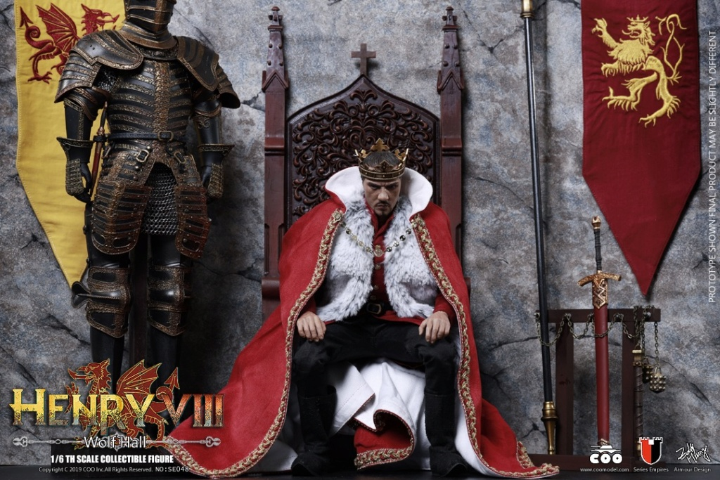 CooModel - NEW PRODUCT: COOMODEL: 1 / 6 alloy die-casting empire series - Henry VIII Lions version of the red dragon version of the Tudor version of the Wolf Hall scene 00374511