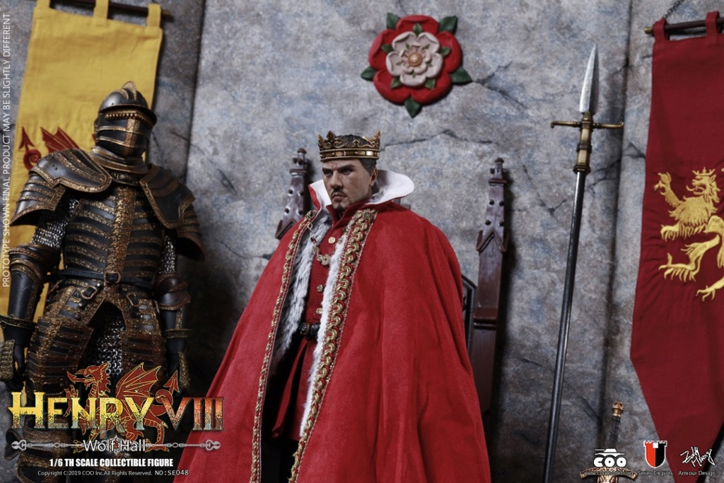 CooModel - NEW PRODUCT: COOMODEL: 1 / 6 alloy die-casting empire series - Henry VIII Lions version of the red dragon version of the Tudor version of the Wolf Hall scene 00374610