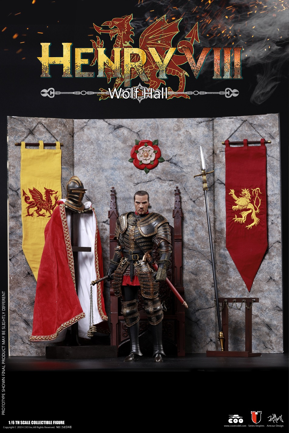 CooModel - NEW PRODUCT: COOMODEL: 1 / 6 alloy die-casting empire series - Henry VIII Lions version of the red dragon version of the Tudor version of the Wolf Hall scene 00374710