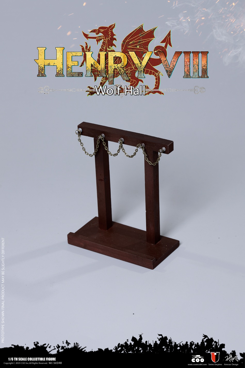 CooModel - NEW PRODUCT: COOMODEL: 1 / 6 alloy die-casting empire series - Henry VIII Lions version of the red dragon version of the Tudor version of the Wolf Hall scene 00374910