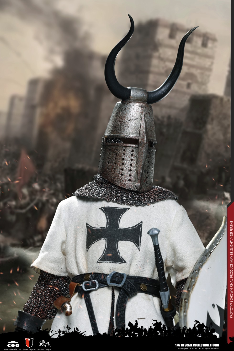 CooModel - NEW PRODUCT: COOMODEL: 1/6 Empire Series (Alloy Die Casting) - Crusader Helmet (Three Helmet Set) NO.SE059 00521610
